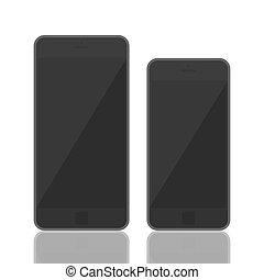 3d, smartphone, réaliste, gabarit