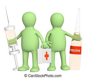 3d, vaccin, médecins