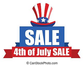 4 juillet, bannière, vente