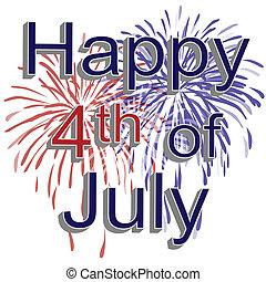 4 juillet, feux artifice, heureux