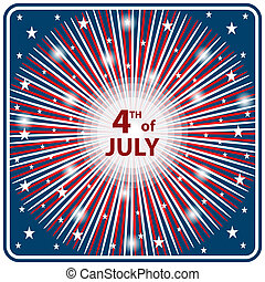 4 juillet, starburst, jour, indépendance