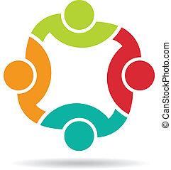 4, logo., équipe, congrès