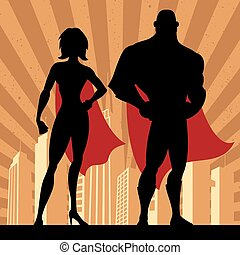 4, superhero, couple