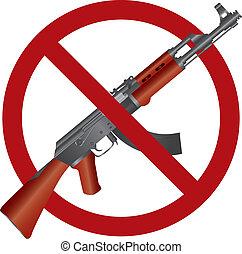 47, ak, fusil, illustration, fusil assaut, interdiction