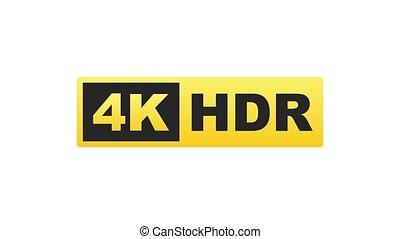 4k, graphics., technology., hd, display., élevé, label., tã©lã©viseur, mouvement, mené, ultra