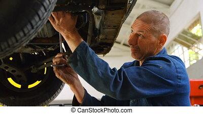 4k, mécanicien, voiture, examiner