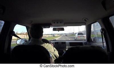 4k., voyage, highway., voiture