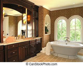 5, salle bains, -, luxe, 3