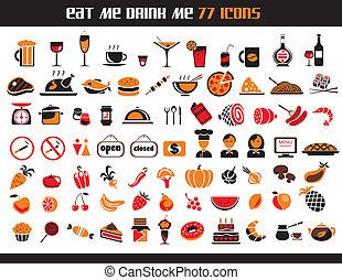 77, icônes nourriture