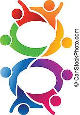8, collaboration, nombre, logo