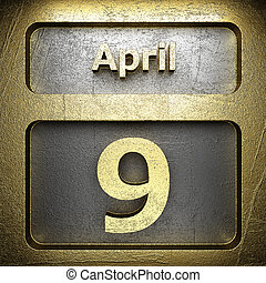 9, avril, doré, signe