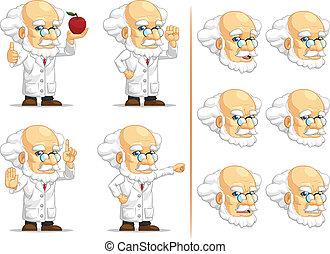 9, prof, scientifique, ou, mascotte