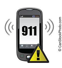 911, appeler, urgence, illustration