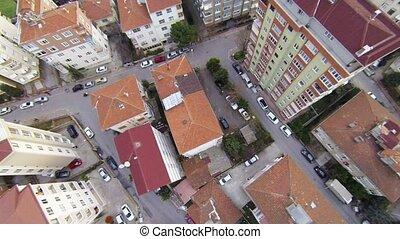 aérien, perspective, appartements