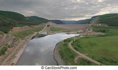 aérien, plante, coup, hydropower