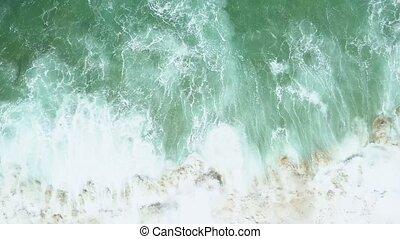 aérien, sur, surface, bourdon, enquête, mer