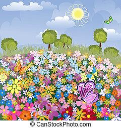 aérodrome, fleur
