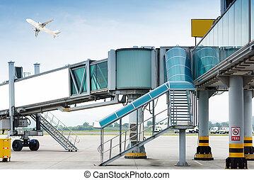 aéroport, aerobridge