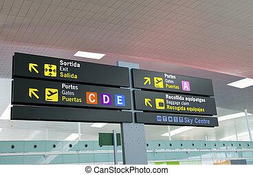 aéroport, board-index