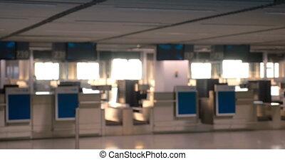 aéroport, enregistrement, compteurs