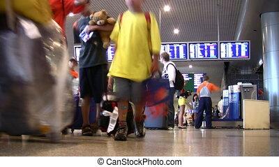aéroport, indicateur, planche