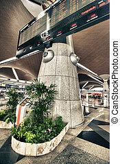 aéroport, vol, planche