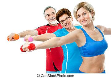 aînés, exercices, fitness
