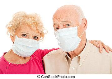 aînés, grippe, -, porcs, épidémie