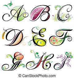 a-i, alphabets, éléments