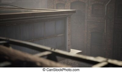 abandonnés, usine, vieux, industriel, bâtiments