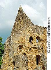 abbaye, angleterre, ruines, bataille, église