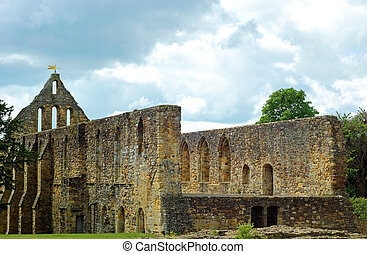 abbaye, ruine, bataille, église