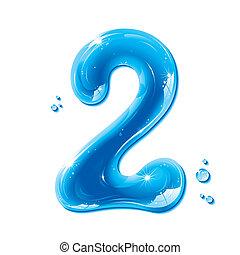 abc, liquide, série, -, nombre, eau, 2
