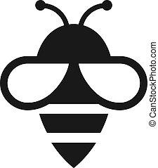 abeille, icône, vecteur