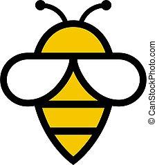 abeille, vecteur, icône