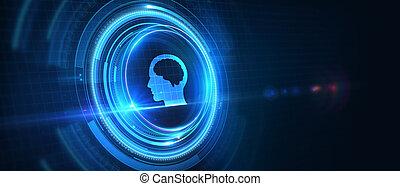 ability.3d, illustration., concept., technologie internet, compétence, réseau, connaissance, business
