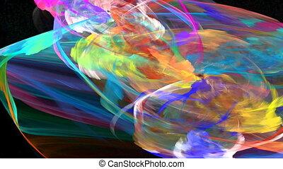 able., résumé, seamless, mouvement, fond, éclair, vagues, énergie, boucle