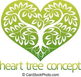 abstarct, coeur, arbre