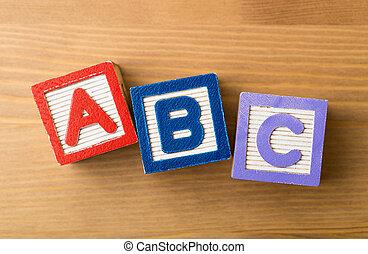 acb, jouet, bloc