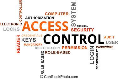 accès, contrôle, -, nuage, mot
