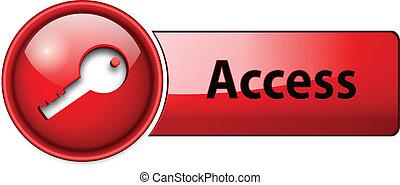 accès, icône, bouton