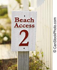 accès, signe., plage