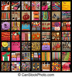 accessoires, collage
