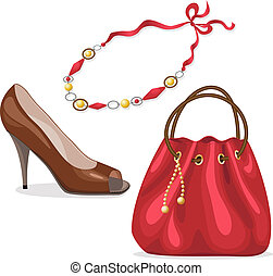 accessories., ensemble, femme