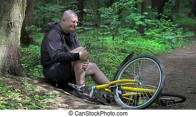 accident, vélo, homme