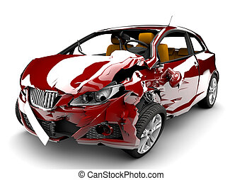 accident voiture, rouges
