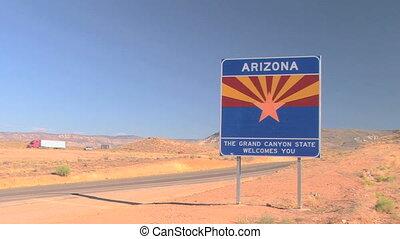 accueil, arizona, signe