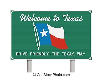 accueil, texas, panneaux signalisations