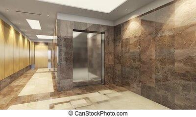 accumulation, moderne, intérieur, animation, salle, 3d, conception