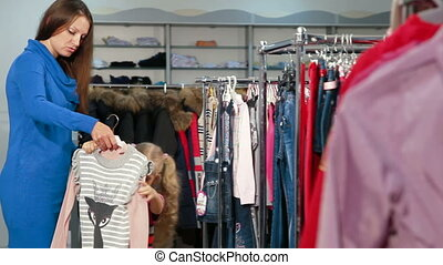 achats, childrens, vêtements